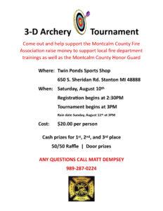 archery contest flyer